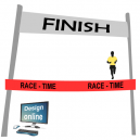 Finish line ribbon print Design yourself