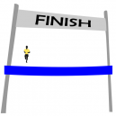 Finish line ribbons In stock for immediate delivery