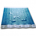 Tyvek paper wristbands unprinted with water on the wristbands