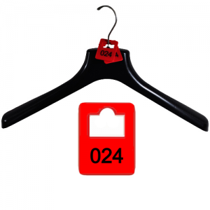 Set of 100 cloakroom number tags made of plastic