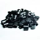 Plastic one way locks for fabric wristbands