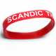Silicone wristbands with Impact and color filling