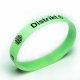 Custom made silicone wristbands with one color printing