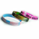 Silicone rubber wristband with marble swirl effect