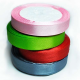 Ribbon roll in different colors for making festival wristbands