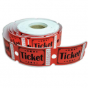 Entry tickets rolls made of high grade paper