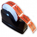 Dispenser with admission ticket roll