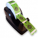Dispenser with food vouchers in a roll format