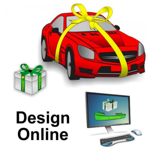Wide gift ribbons design online