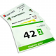 Printed race numbers in full color