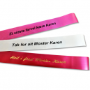 Bouquet ribbons printed in black and metallic gold with a JMB4+ thermal printer