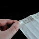 Release paper coated with silicone for protecting the adhesive on tyvek paper wristbands