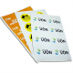Stickers on A4 sheets with full color printing
