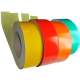 Rolls of reflective adhesive tape soled per meter