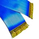 Fringes on a custom printed sash