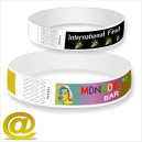 Paper wristbands color printing Via eMail