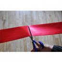 Inauguration ribbon cut with scissors