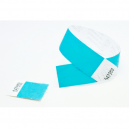 Removeable stub at the end of tyvek paper wristbands