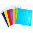 Different colours of paper wristbands no print
