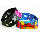 Elastic textile wristbands printed in full color