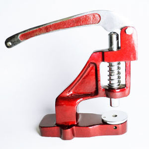 Table crimping tool for pressing seals on textile wristbands