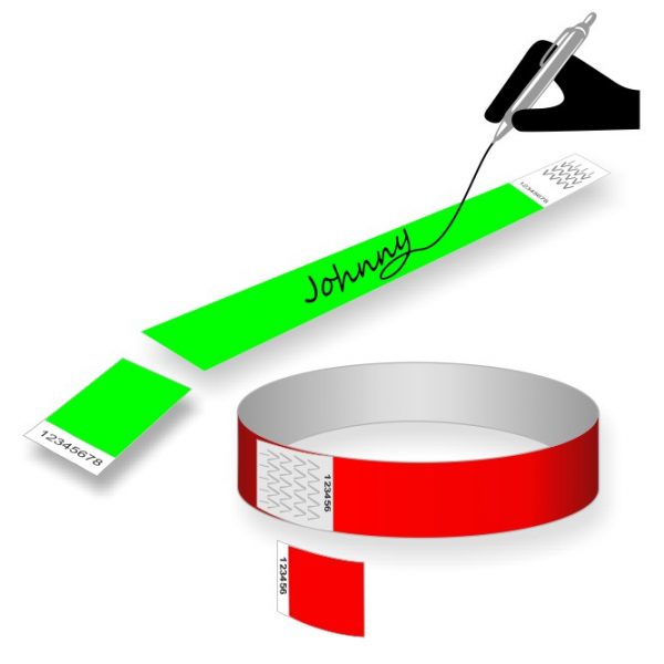Stock paper wristbands with a coupon