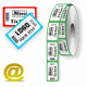 Custom made thermal roll tickets Z