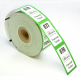 Roll tickets with logo and text printed on