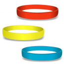 Blank silicone wristbands in colors