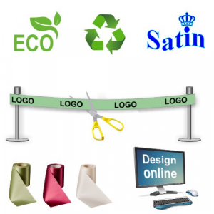 Design online  eco friendly and sustainable Inauguration ribbon .