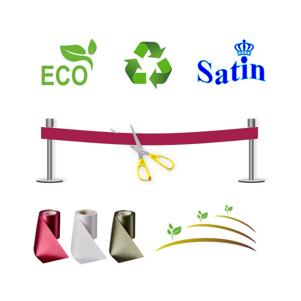Inauguration ribbon without print. Ecological, environmentally friendly and sustainable.
