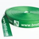 Bespoke gift ribbon made of polyester satin