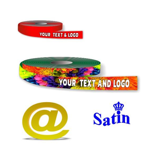 Gift ribbon polyester full colour digital printing