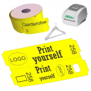 Direct thermal cloakroom ticket rolls for JMB4+ printer