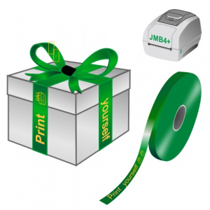 Print yourself gift ribbons on a JMB4+ thermal printer