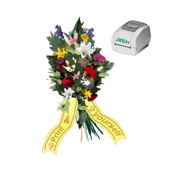 Print as you want when you want, bouquet ribbons using JMB4+ thermal printer