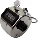 Tally counter made of chrome plated metal