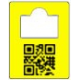 Cloakroom number tags with QR code