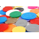 Plastic coins and plastic tokens