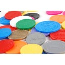 Tokens embossed plastic
