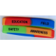 Segmented silicone wristband with color effect