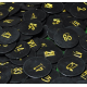 Numbered tokens made of plastic