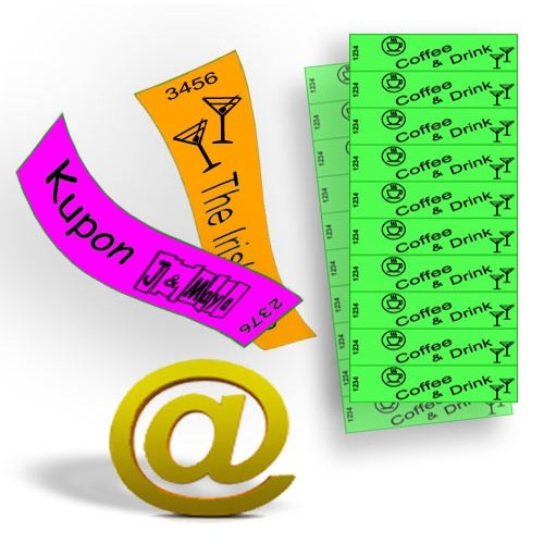 Vouchers and tickets printed on Tyvek paper