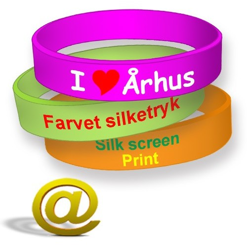Printed silicone wristbands with logo and text