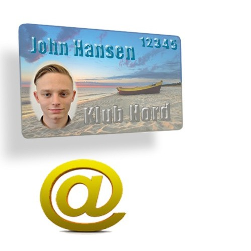 Custom made plastic cards with full color printing