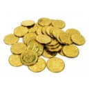 Coins and tokens made of brass
