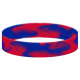Rubber wristband with marble swirl effect