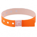 Plastic wristband for admission control with security button lock