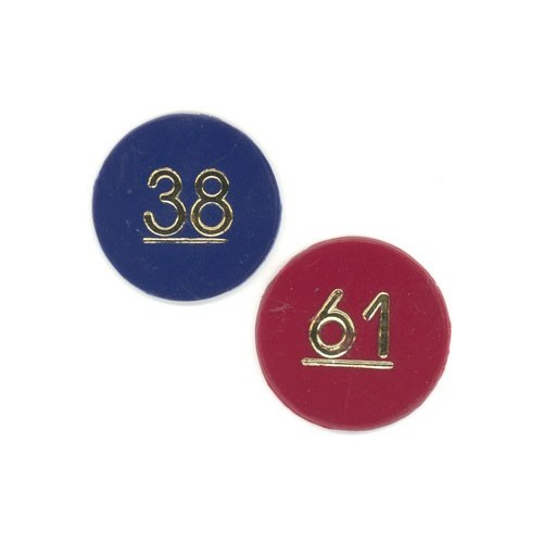 Sequentially numbered plastic tokens