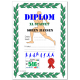 Full color printed participant diploma